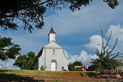 Photograph - St Joseph Catholic Church Kaupo Maui Hawaii by Sharon Mau
