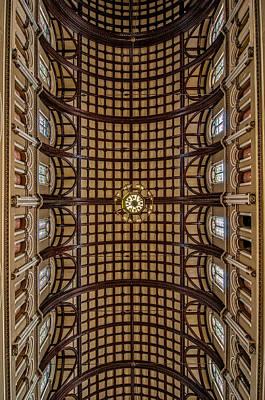 St. Joseph Church Ceiling Art Print by Andy Crawford