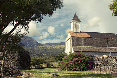 Photograph - St. Joseph Church Kaupo Maui Hawaii by Sharon Mau