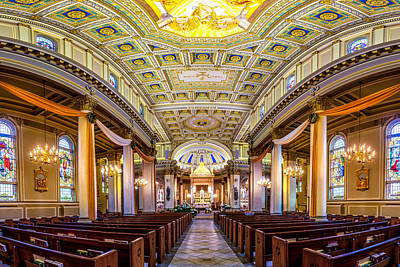 Photograph - St. Joseph Co-cathedral Distorted by Andy Crawford