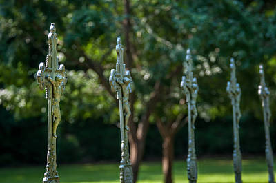 Photograph - St. Joseph Crucifixes by Andy Crawford