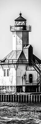 St. Joseph Lighthouse Vertical Panorama Picture  Art Print by Paul Velgos