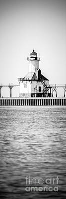 St. Joseph Lighthouse Vertical Panoramic Photo Art Print by Paul Velgos