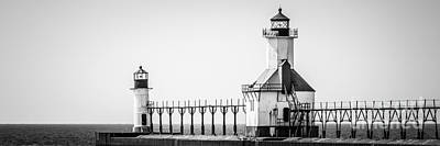 St. Joseph Lighthouses Panorama Picture Art Print by Paul Velgos