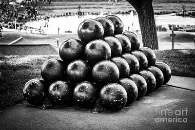 St. Joseph Michigan Cannon Balls Picture Art Print by Paul Velgos