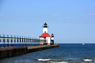 Photograph - St Joseph North Pier Lighthouses by George Jones