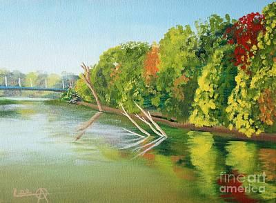 St. Joseph Riverbank Art Print by Lee Alexander