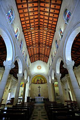 Palestine Photograph - St. Joseph's Church -- Nazareth by Stephen Stookey