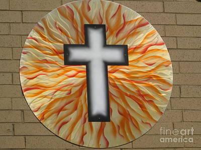 St. Josephs Cross Art Print by Rick Roth