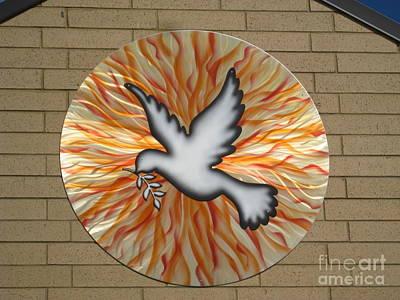 Aluminum Outdoor Sculpture - St. Josephs Dove by Rick Roth