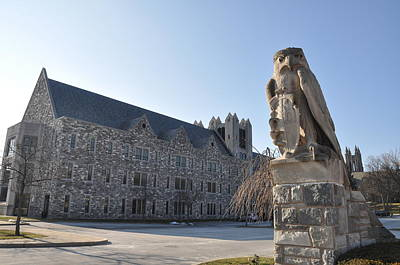 St Josephs University Hawk Statue Art Print by Bill Cannon