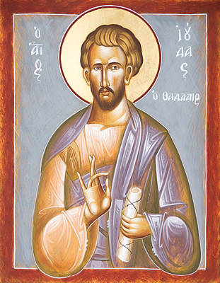 Painting - St Jude Thaddeus by Julia Bridget Hayes