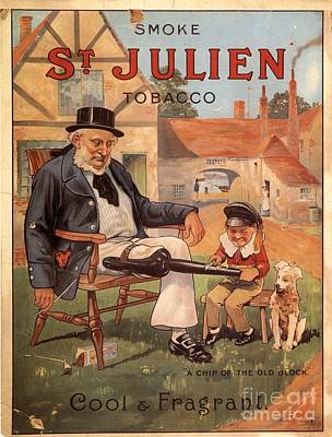St Julien 1890s Uk Cigarettes Smoking Art Print by The Advertising Archives