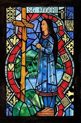 Painting - St. Kateri by Chrissey Dittus