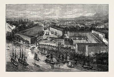 Dock Drawing - St. Katherines Docks by Litz Collection