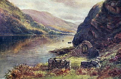 Painting - St Kevins Bed Glendalough Wicklow by Val Byrne