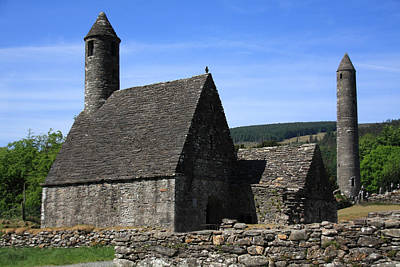 Photograph - St Kevins Church And Round Tower by Aidan Moran