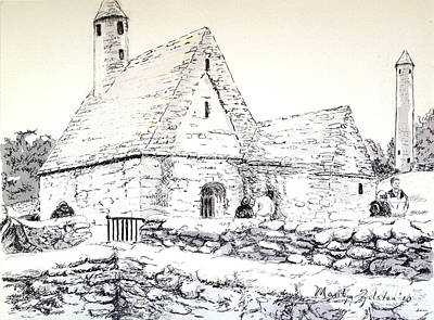 Drawing - St Kevin's by Marilyn Zalatan