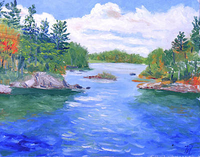 St Lawrence River-view From Waterson State Park Art Print by Robert P Hedden