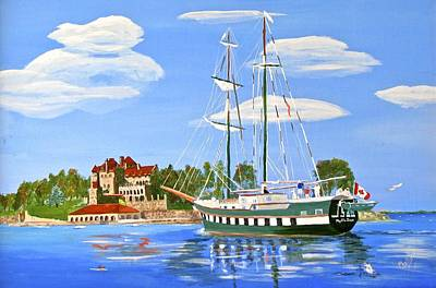 Painting - St Lawrence Waterway 1000 Islands by Phyllis Kaltenbach