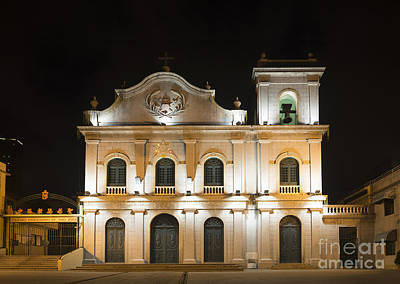 St Lazarus Church In Macau China Art Print by Jacek Malipan