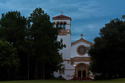 Photograph - St Leo Abbey At Dusk by Ed Gleichman