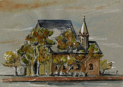 Gothic Painting - St Leonhardskirche by Juan  Bosco