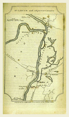 St. Louis Drawing - St. Louis, A Geographical Description Of The United States by Litz Collection