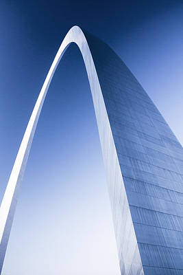 Photograph - St Louis Arch At Dusk by Garry McMichael