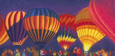 St Louis Balloon Glow Art Print