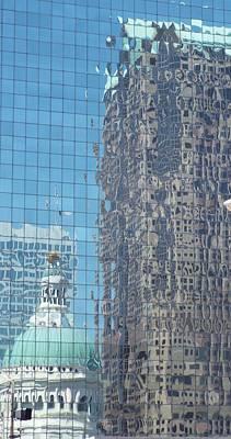 St. Louis Bldg Reflections Art Print