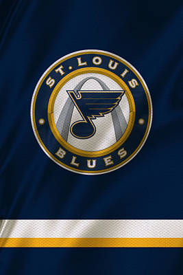 St Louis Blues Uniform Print by Joe Hamilton