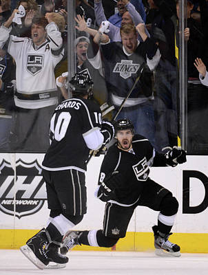 Los Angeles Kings Photograph - St Louis Blues V Los Angeles Kings - by Harry How