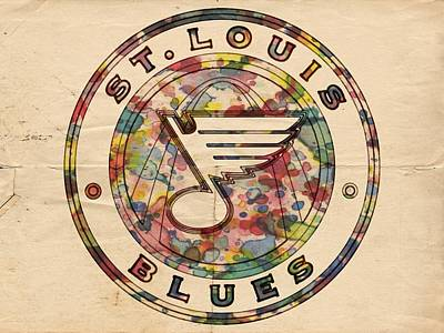Painting - St Louis Blues Vintage Poster by Florian Rodarte