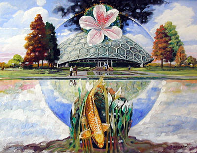 Painting - St. Louis Botanical Garden by John Lautermilch