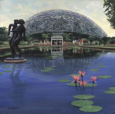 St. Louis Botanical Gardens Climatron Art Print by Don  Langeneckert