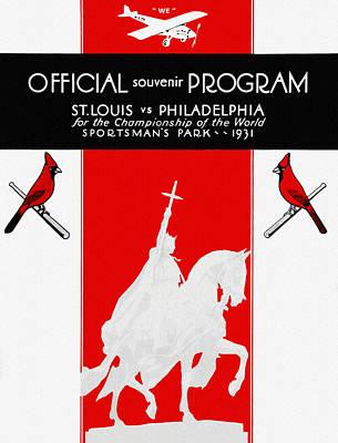 St Louis Cardinals Painting - St. Louis Cardinals 1931 World Series Program by Big 88 Artworks