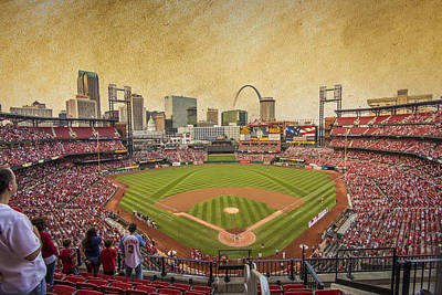 St. Louis Cardinals Busch Stadium Texture 9252 Art Print by David Haskett