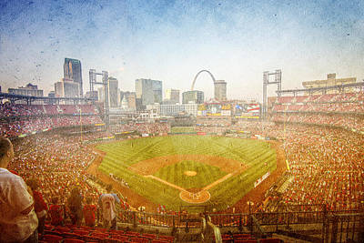 Photograph - St. Louis Cardinals Busch Stadium Texture by David Haskett II