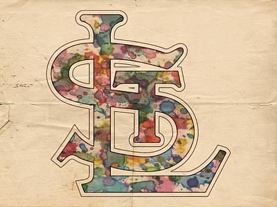 Painting - St Louis Cardinals Logo Vintage by Florian Rodarte
