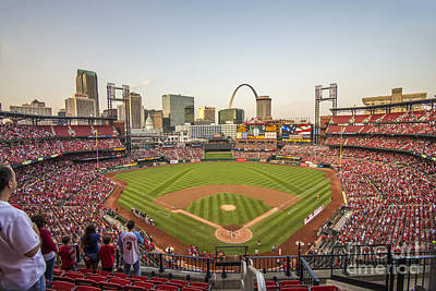 Photograph - St. Louis Cardinals National Anthem by David Haskett II