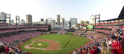 St. Louis Cardinals Pano 1 Art Print by David Haskett