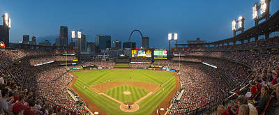 Stan Musial Photograph - St. Louis Cardinals Busch Stadium Pano 5 by David Haskett