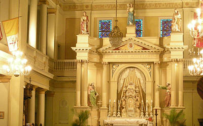 Photograph - St. Louis Cathedral Altar by Brian Hoover