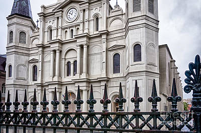 Photograph - St. Louis Cathedral And Fence by Kathleen K Parker
