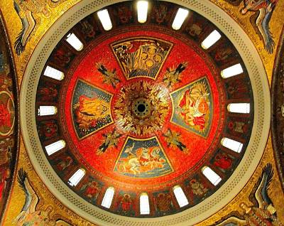 Old Testament Trinity Photograph - St. Louis Cathedral Dome by Cindy Croal