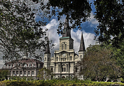 St. Louis Cathedral Art Print by Judy Vincent