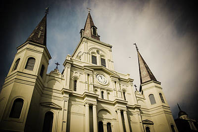 Art Print featuring the photograph St Louis' Cathedral In New Orleans by Ray Devlin