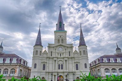 Photograph - St. Louis Cathedral by Jim Shackett