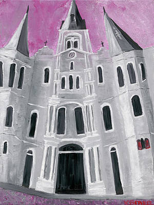 Painting - St. Louis Cathedral by Kerin Beard